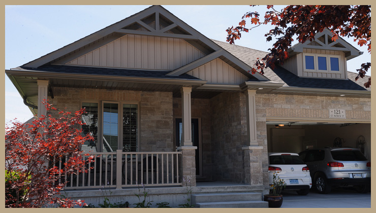 finished custom home goderich